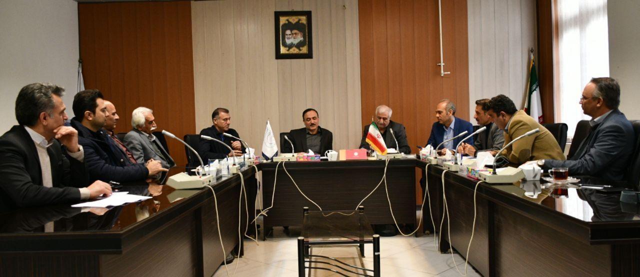 دیدار اعضای هیات مدیره انجمن انبوه سازان استان گلستان با رییس اتاق گرگان