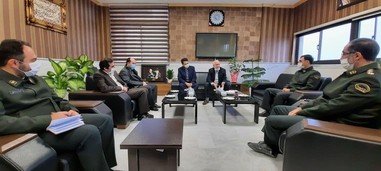 دیدار مهندس چوپانی رییس اتاق بازرگانی گرگان با سرهنگ دادگر فرمانده نیروی انتظامی استان گلستان