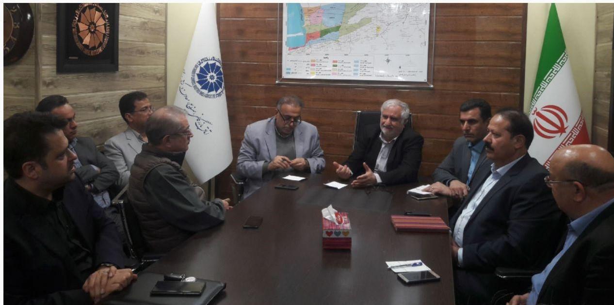 حضور فرماندار گرگان در اتاق بازرگانی در خصوص هم اندیشی تامین اقلام مورد نیاز سیل زدگان
