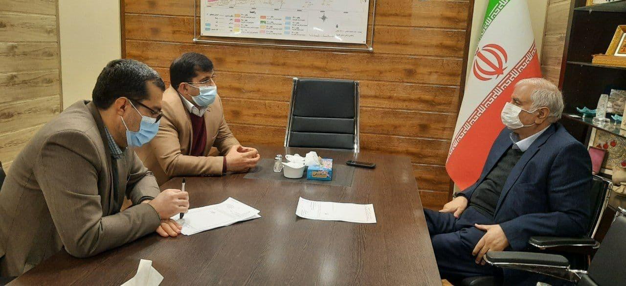 دیدار مدیر کل بنیاد مسکن استان گلستان با رییس اتاق بازرگانی گرگان در خصوص بررسی روند بازسازی منازل آسیب دیده از سیل
