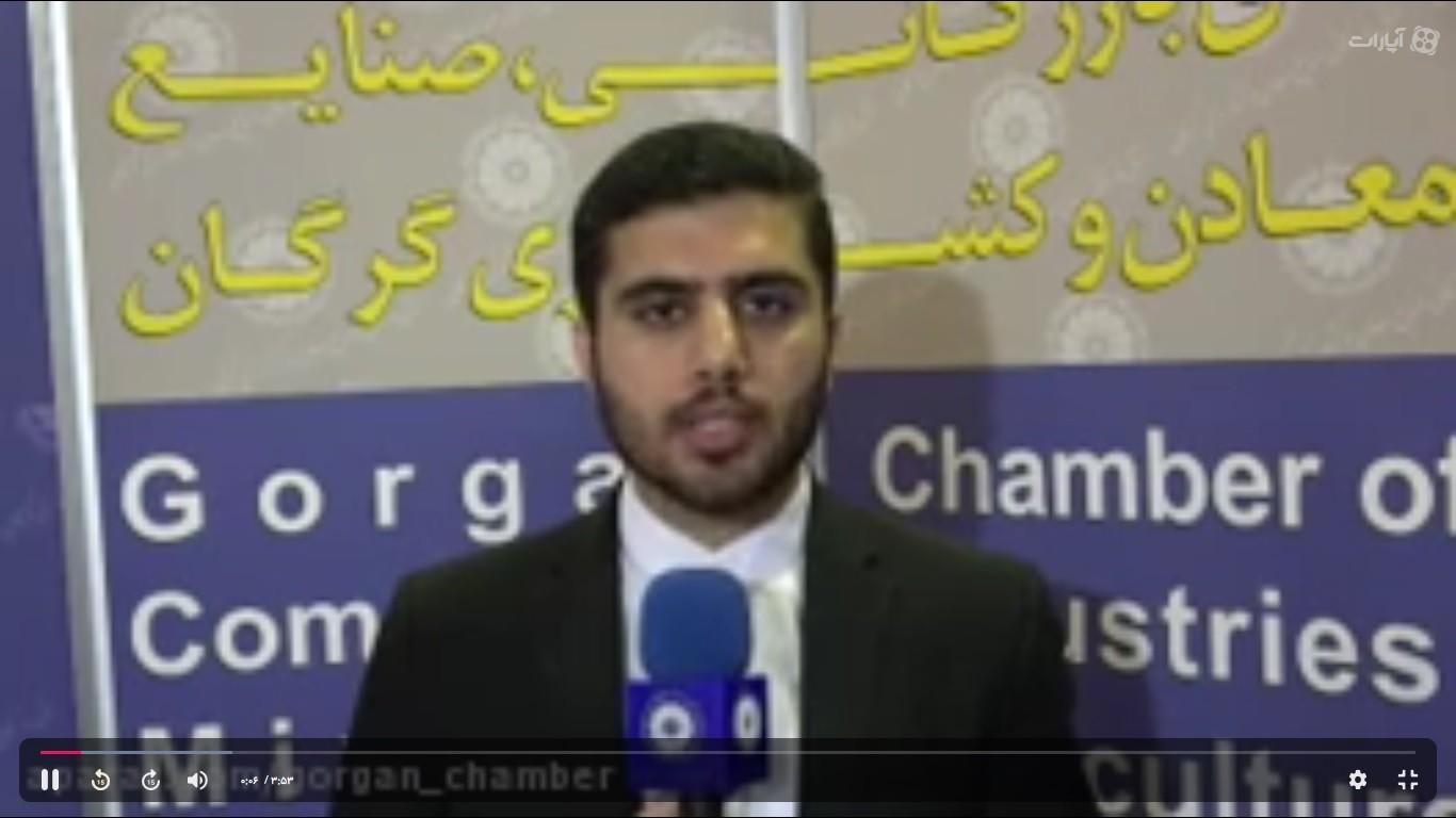 گزارش خبری حضور هیئت تجاری اتاق بازرگانی گرگان در نمایشگاه اربیل عراق 2