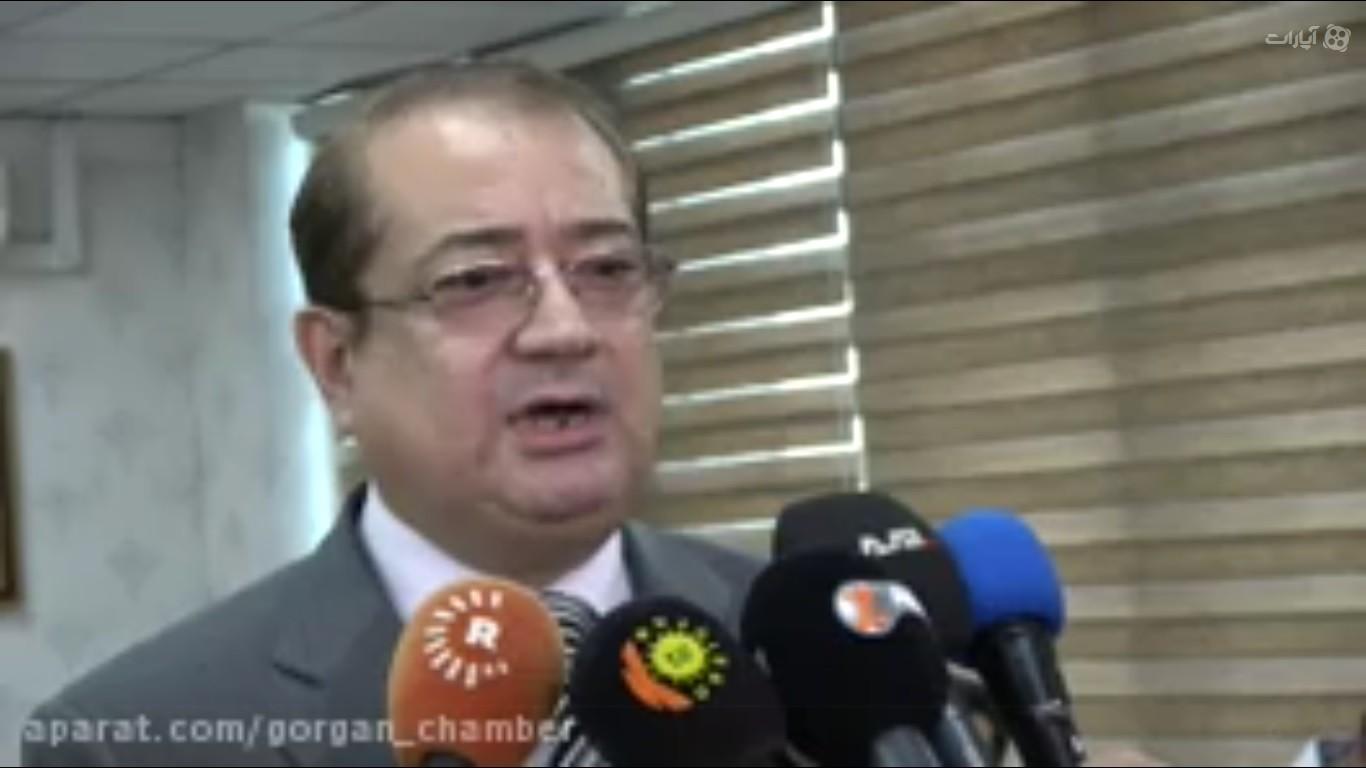 مصاحبه زنده شبکه های تلوزیون عراق با مهندس شمالی نایب رییس اتاق گرگان